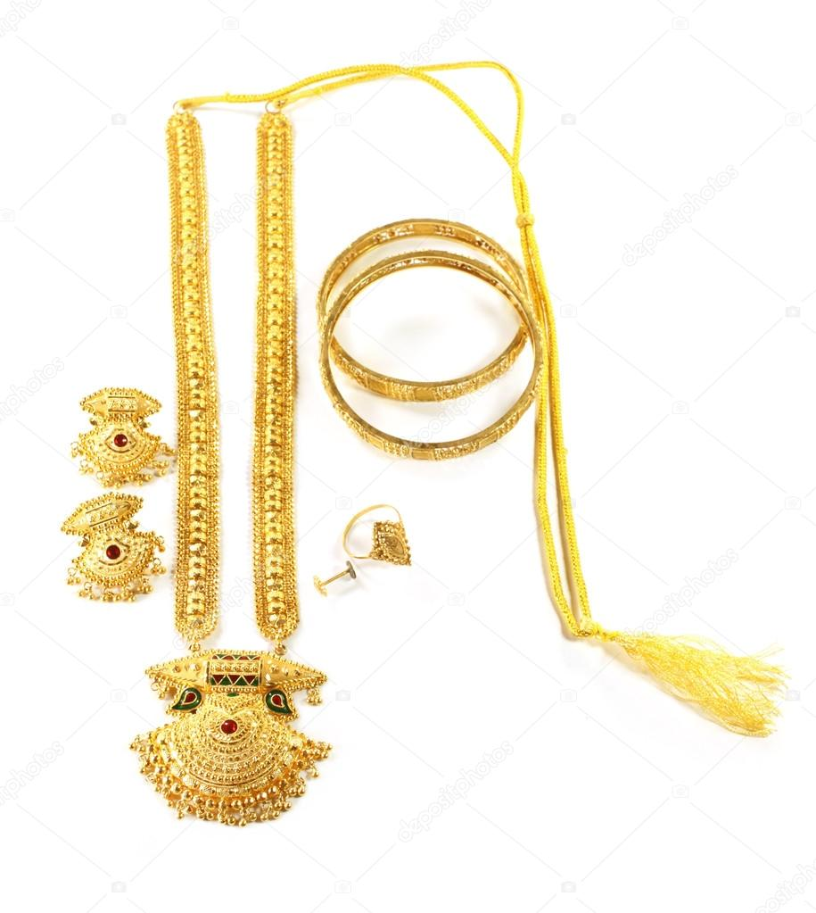 Famous Indian bridal Sita Har or Sita Necklace — Stock Photo ...