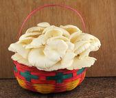 Fotografie Basket of mushrooms in kitchen