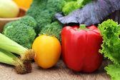 closeup di verdure fresche