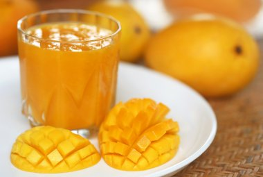 Mango juice with fruits
