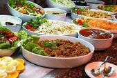 Various food in buffet