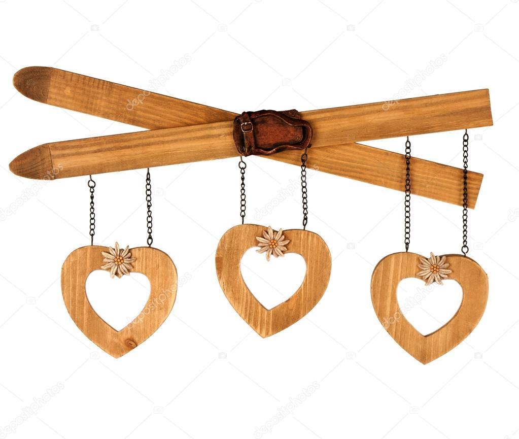 marco de fotos de forma de corazón sobre fondo blanco — Foto de ...