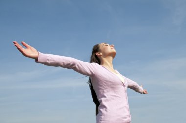 Woman feeling free