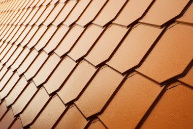 Copper tile wall