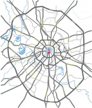 Moscow roads map