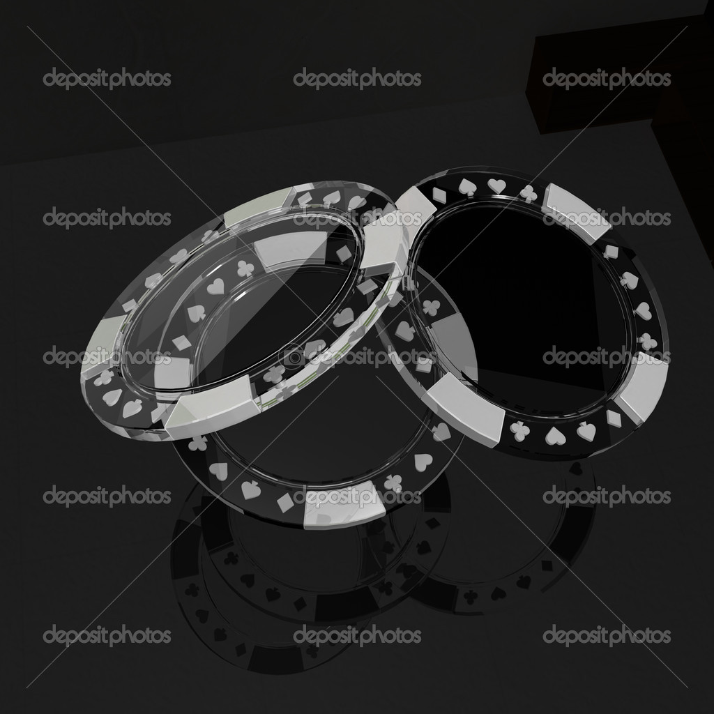 Tremendous Glass Poker Chips With Reflection On Black Table Stock Home Remodeling Inspirations Basidirectenergyitoicom