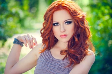 Red-headed girl