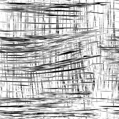 Black and white grunge striped seamless pattern