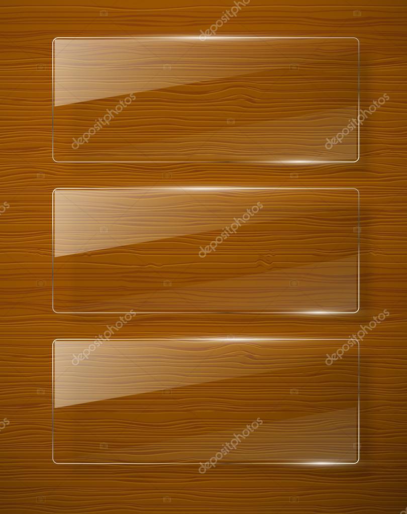 textura de madera con marco de cristal. Vector eps10 — Vector de ...