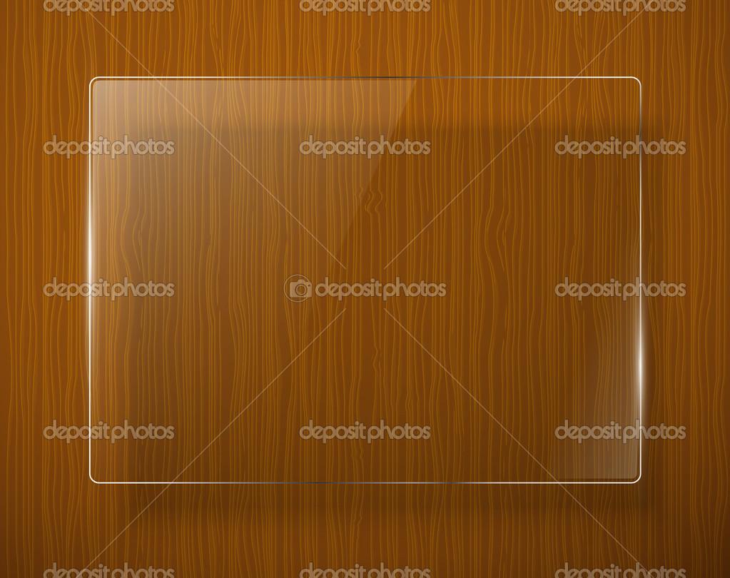 textura de madera con marco de cristal. Vector eps10 — Archivo ...