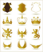 Fotografie Collection heraldic gold elements. Vector