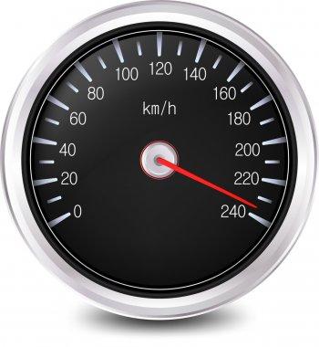 Automobile Speedometer. Vector