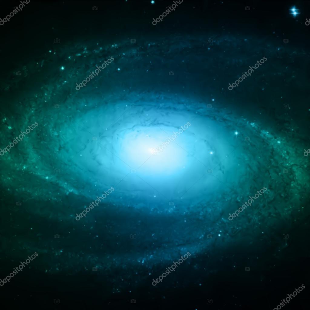 Illustration of Spiral Galaxy. Vector