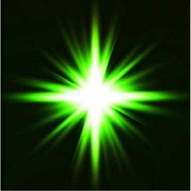 Light flare green effect. Vector