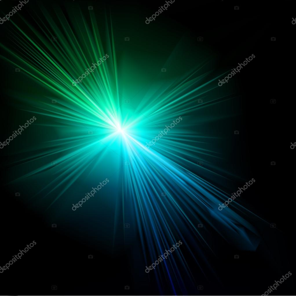 Light flare blue effect. Vector. Vector