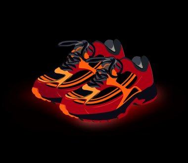 Sport shoes, sneakers. Vector