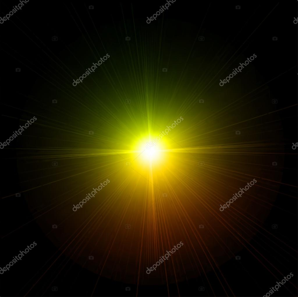 Light flare effect. Vector