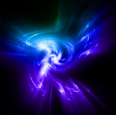 Abstract blue rays lights. Vector
