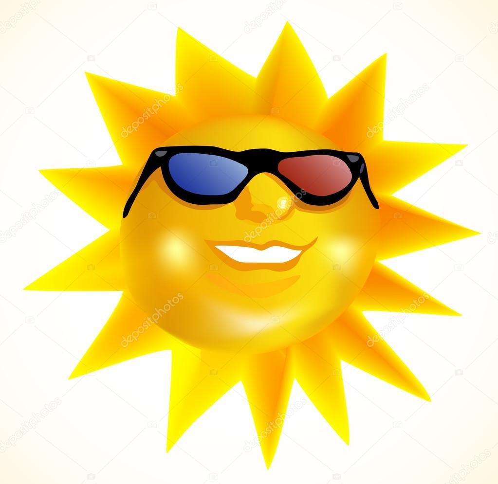 3d240eaf8d98 фанки модные солнце в 3d очках — Векторное изображение © emaria ...
