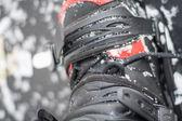 Snowboard mit Schuhe