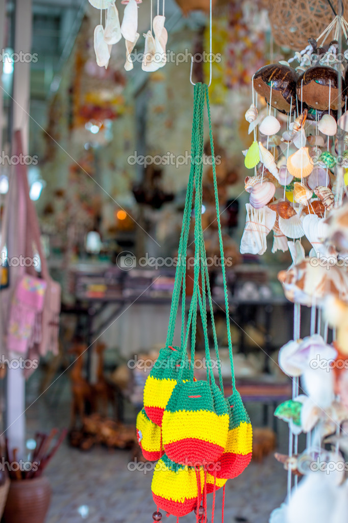 Seashell decorations and souvenirs