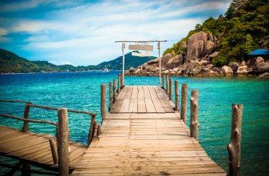 Wooden bridge at Nangyuan island