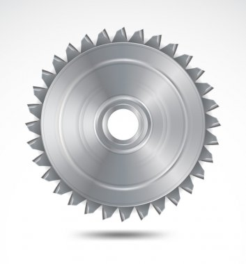 Circular saw blade. Vector illustration