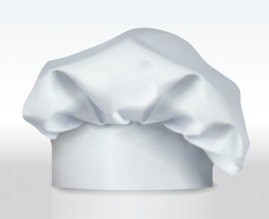 White chef or bakers hat. Vector