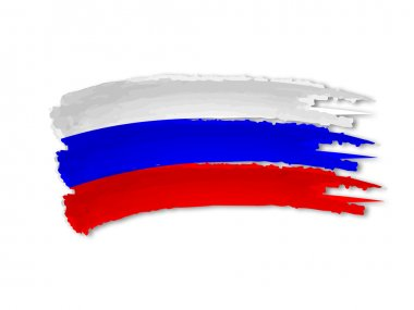 Russian flag drawing