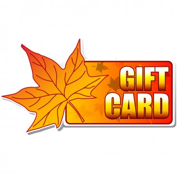Gift card label