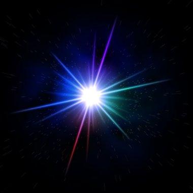 Rainbow colored star