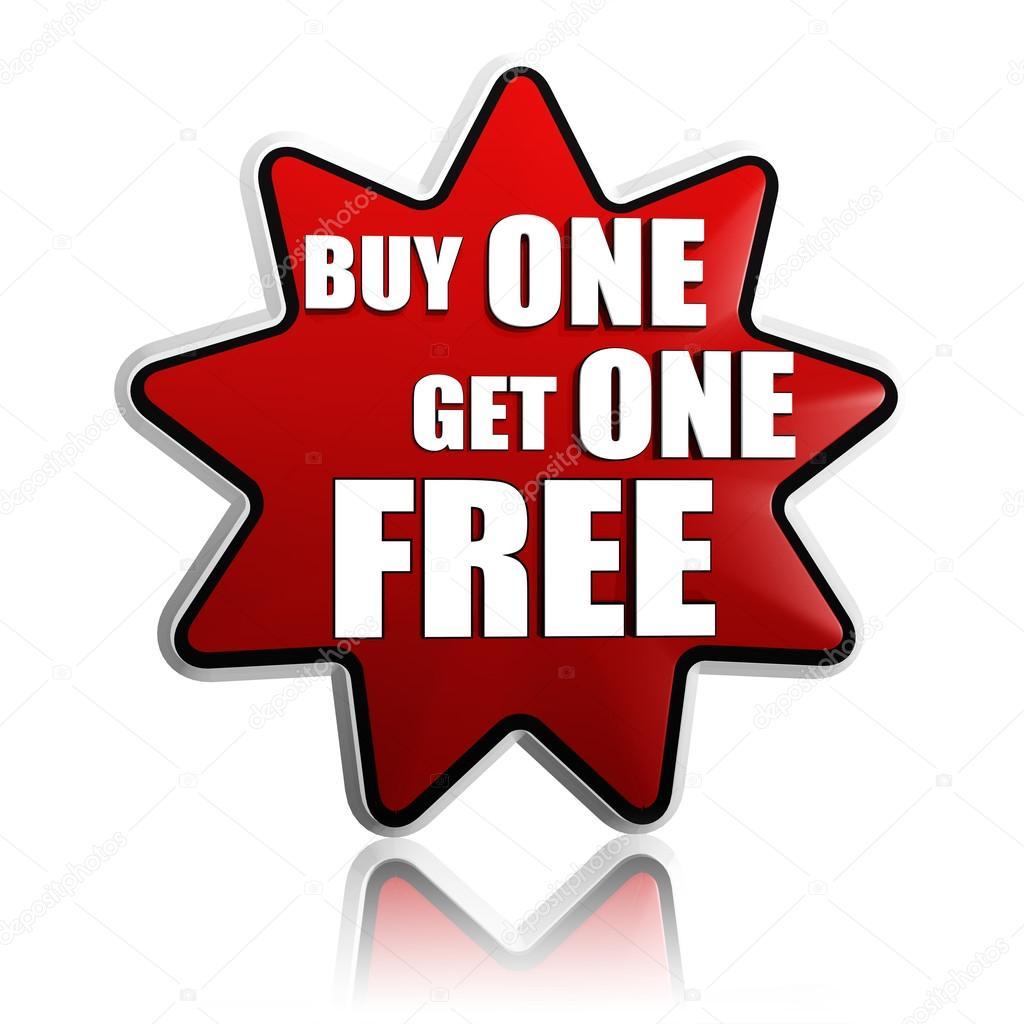 a5ea1de0779 Αγορά μία πάρετε μία δωρεάν κόκκινο αστέρι banner — Φωτογραφία ...