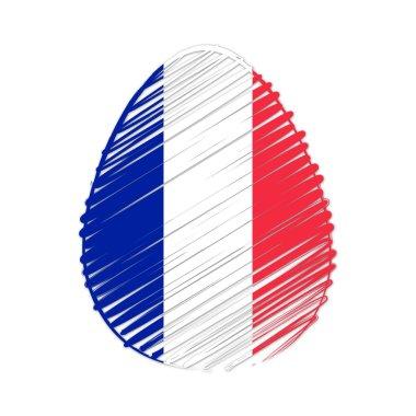 French flag in easter egg