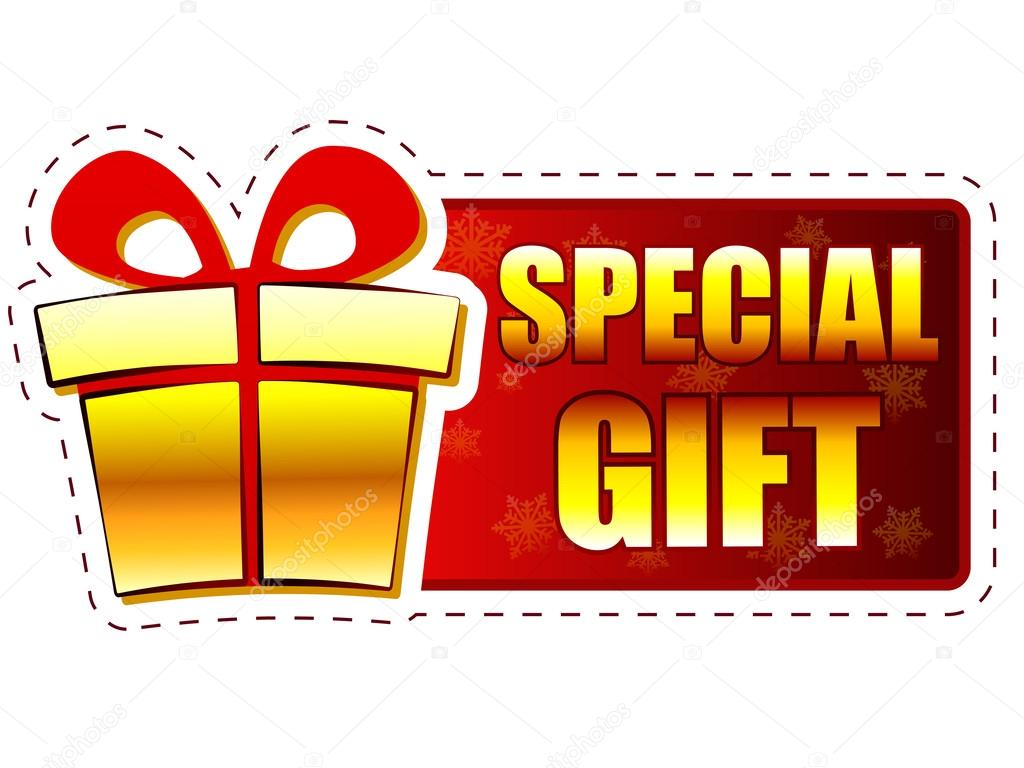 Christmas special gift and present box on red banner with snowfl ⬇ Stock  Photo, Image by © marinini #36548305