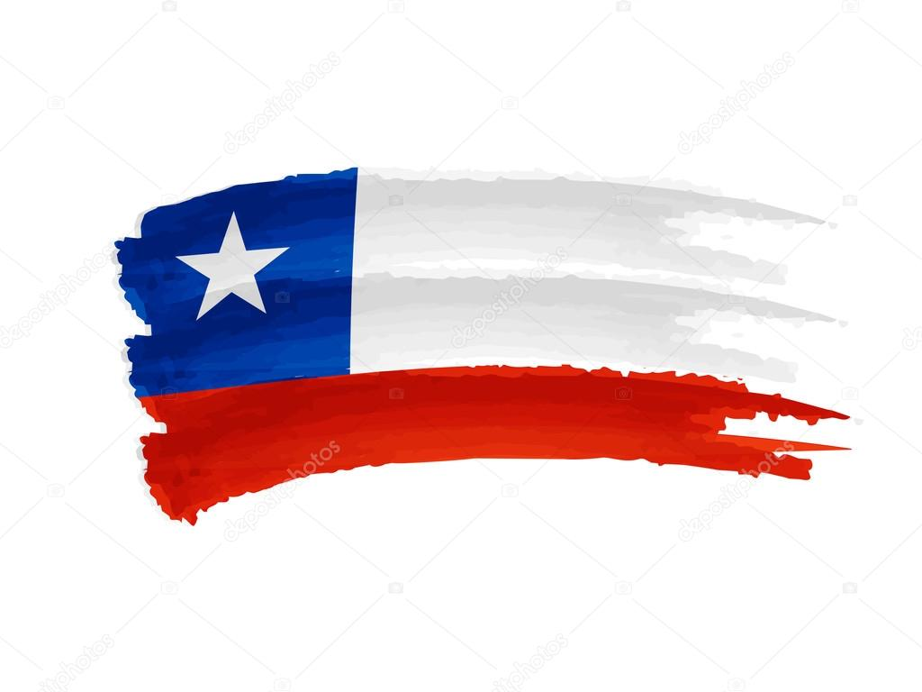 Chile flag drawing