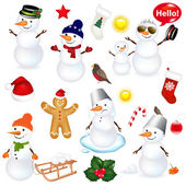 Photo Collection Of Snowmen And Christmas Icons