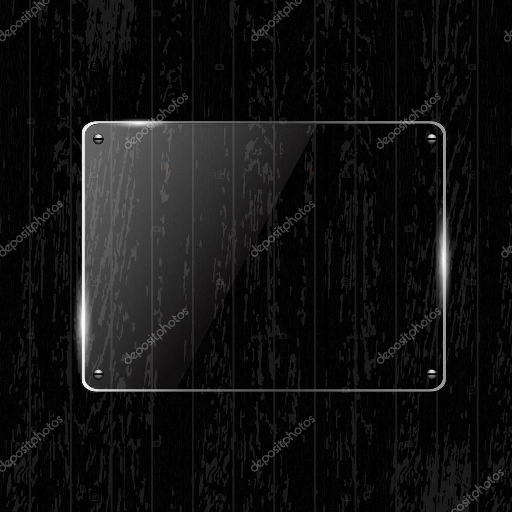 textura de madera con marco de cristal — Archivo Imágenes ...