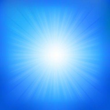 Blue Sky With Sunburst
