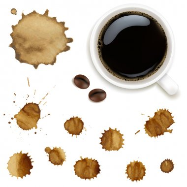 Cup Of Coffee With Stains Set
