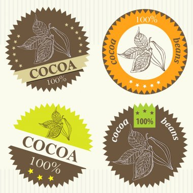 Cocoa beans labels