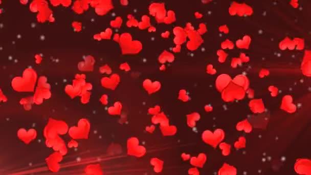 červená srdce