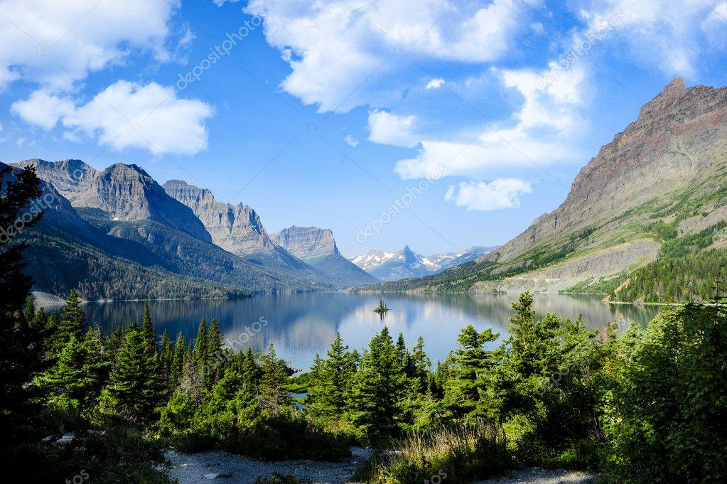 Saint Marys Lake at Glacier National Park