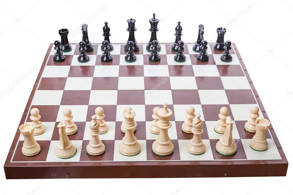 Chess board set up to begin a game \u2014 Stock Photo  sc 1 st  Depositphotos & Chess board set up to begin a game \u2014 Stock Photo © ra3rn_ #13467101