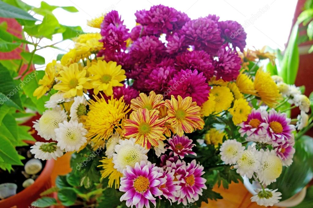 Large bouquet of beautiful flowers — Stock Photo © ra3rn_ #48680985