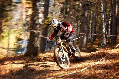 Extreme mountain buke competition