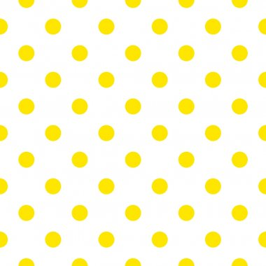 Seamless pattern or background with yellow sunny polka dots