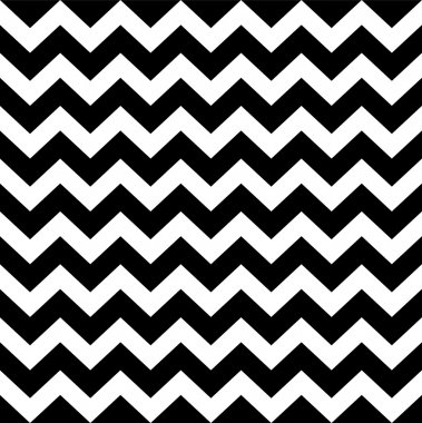 Zig zag simple pattern - black and white