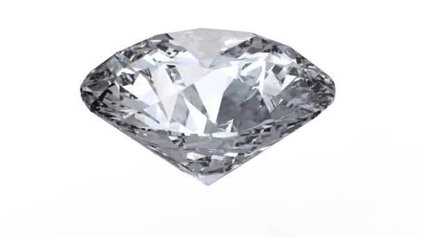 Rotating diamond loop on white background