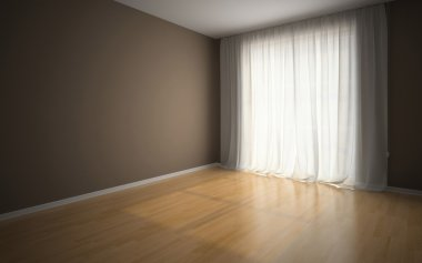 Empty room in waiting for tenants illustration stock vector