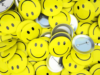 Buttons with smiles